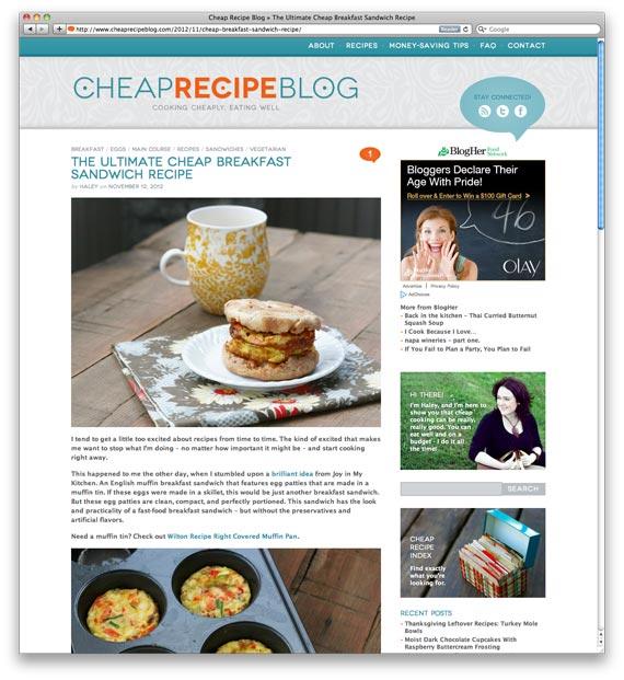Ultimate Cheap Breakfast Sandwich at Cheap Recipe Blog