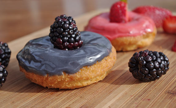 Homemade Blackberry Cake Donut