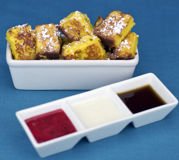 French Toast Golden Nuggets With Sauces