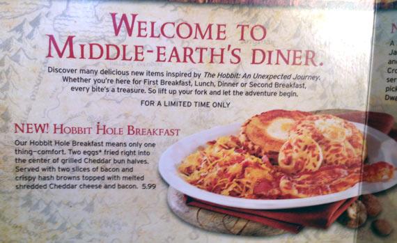 Hobbit Hole Breakfast On Denny's Menu
