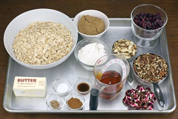 Granola With Clusters - Ingredients