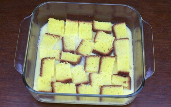 Soaking The French Toast Golden Nuggets