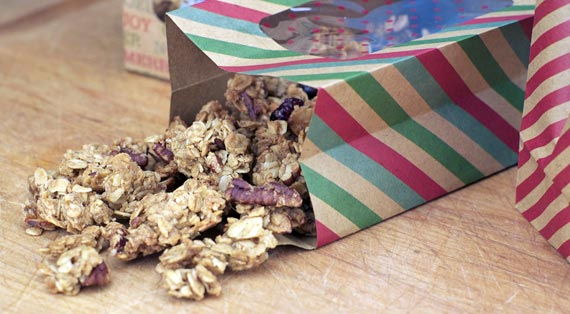 Tipped Bag Of Holiday Granola
