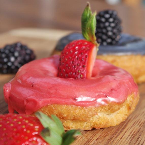 Homemade Strawberry Cake Donut