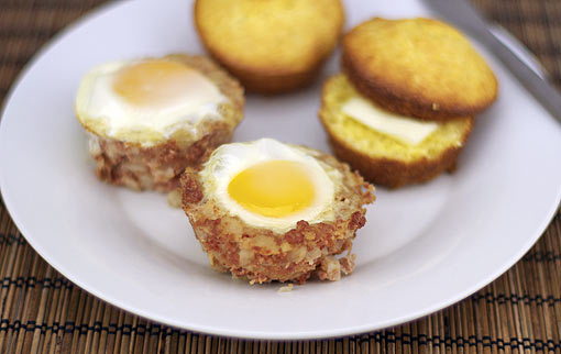Serving The Muffin Tin Breakfast