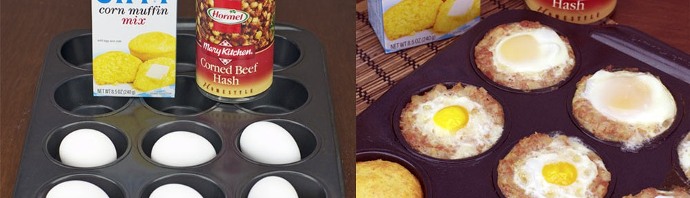 Retro Meal In A Muffin Tin