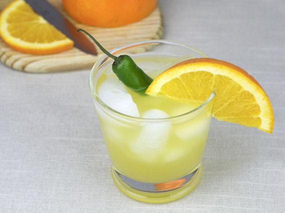 Orange, Honey And Jalapeno Soda Pop