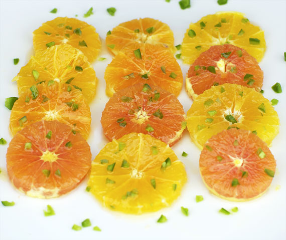 Oranges With Honey And Jalapeno