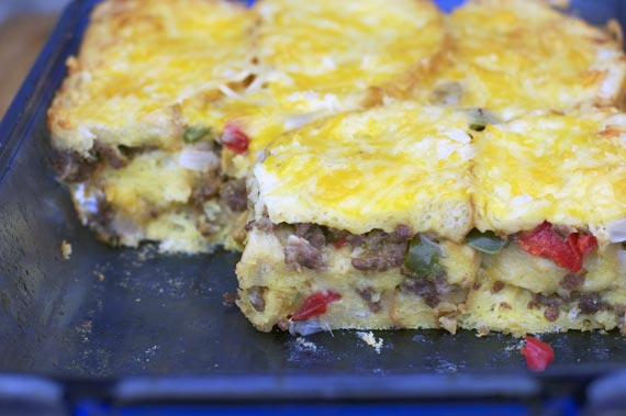 Basic Breakfast Strata In The Pan
