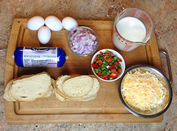 Basic Breakfast Strata Ingredients