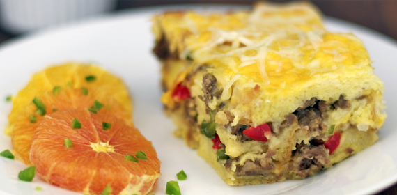 Basic Breakfast Strata With Sausage