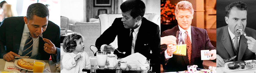 Presidents Eating Breakfast