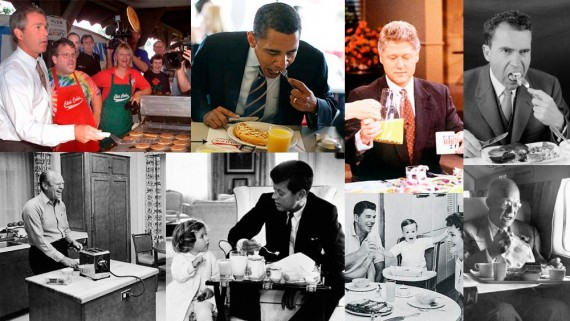 U.S. Presidents Eating Breakfast