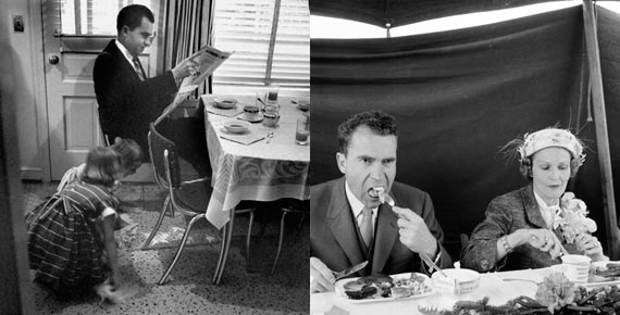 President Richard M. Nixon enjoying breakfast