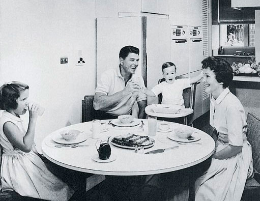 Reagan Family Breakfast in 1955