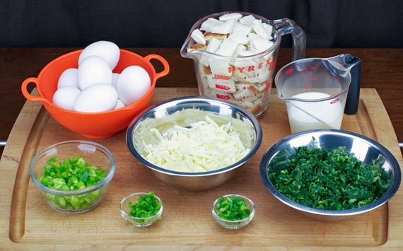 Ingredients For Green Egg Casserole