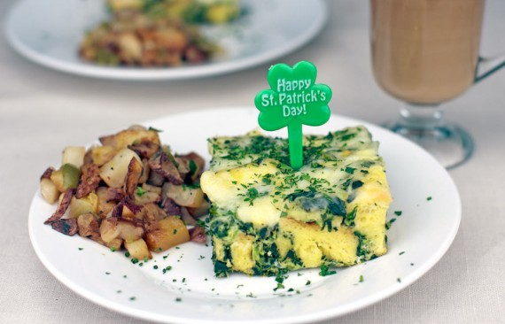 St. Patrick's Day Breakfast Casserole