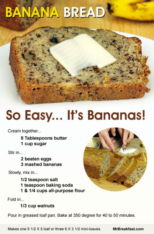 Banana Bread So Easy It S Bananas Team Breakfast