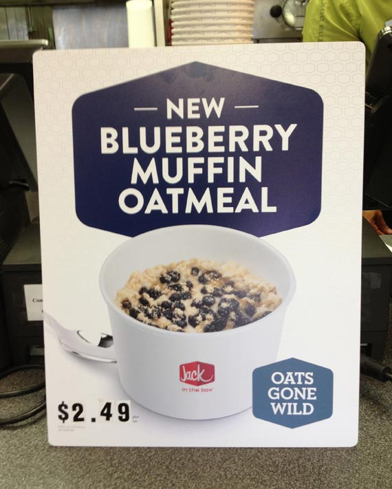 Blueberry Muffin Oatmeal From Jack In The Box