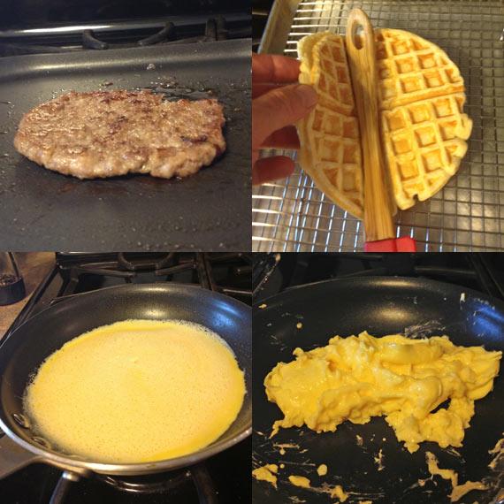 Making Waffle Tacos