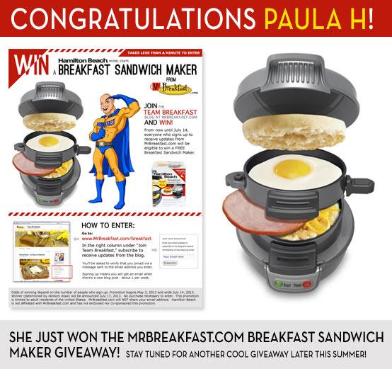 Congratulations Paula H!