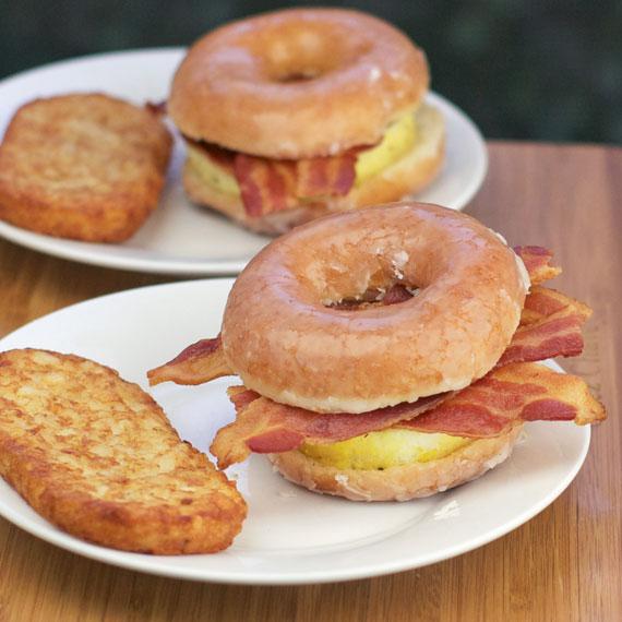 Donut Bacon Sandwich Donut Breakfast Sandwich