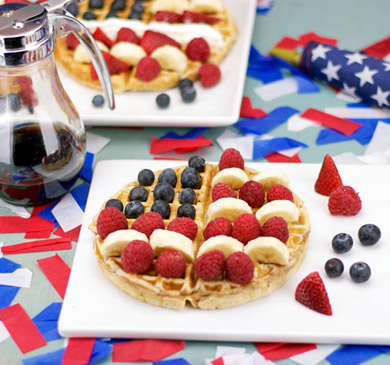 Red, White & Blue Breakfast Ideas