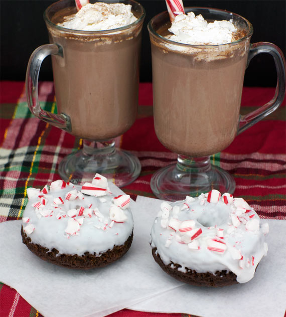 Candy Cane Hot Cocoa And Related Donuts