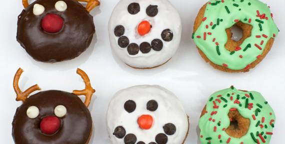 Christmas Cake Donuts