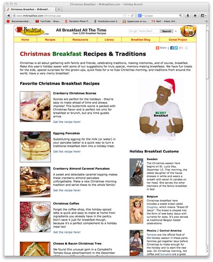 Christmas Breakfast Recipes & Traditions