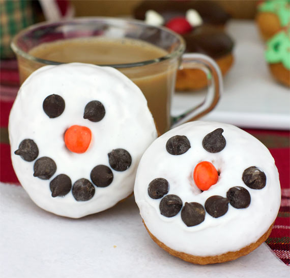 Snowman Cake Donuts