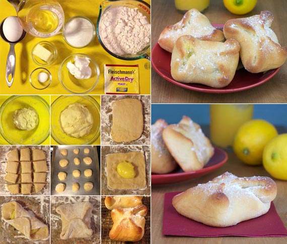 Kolache Filled With Lemon Curd