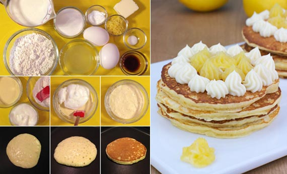Lemon Pancake With Lemon Curd