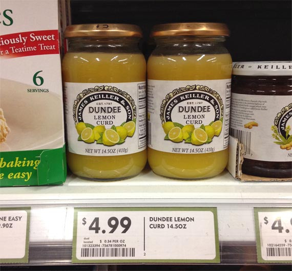 Expensive Lemon Curd From A Store