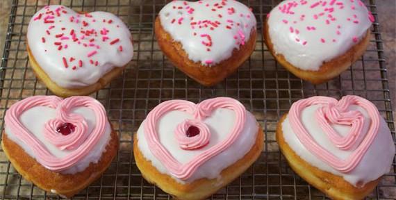 Strawberry Valentine's Day Donuts
