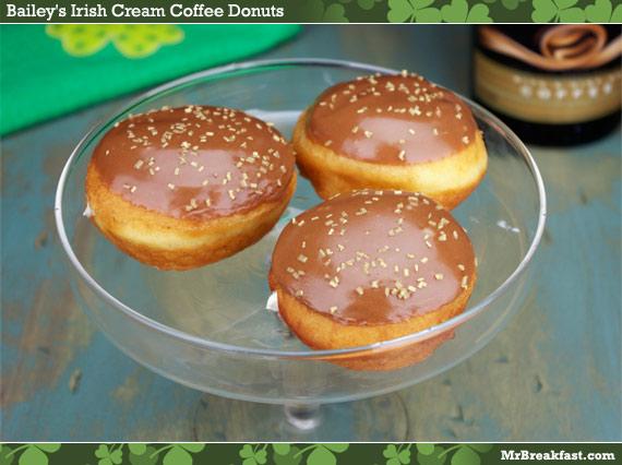 Bailey's Irish Cream Coffee Donuts