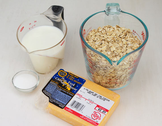 Ingredients For Cheddar Oatmeal