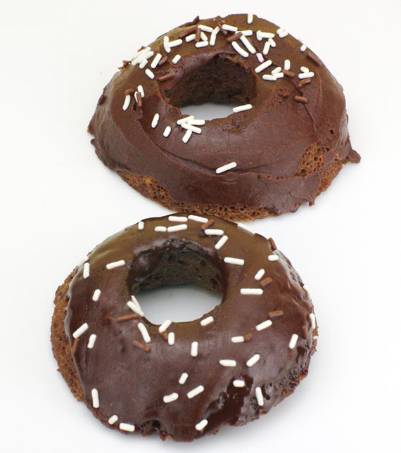 Microwave Chocolate Donuts