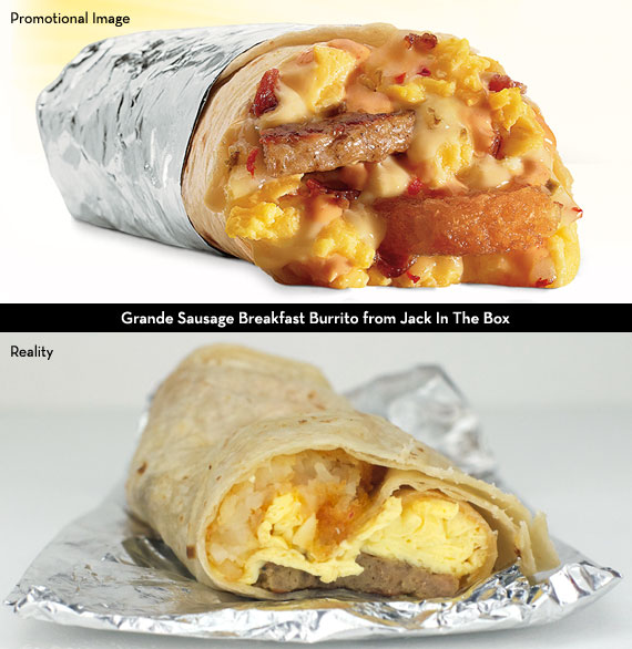 Grande Sausage Breakfast Burrito from Jack In The Box