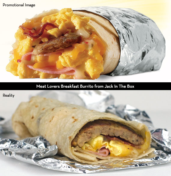 Meat Lovers Breakfast Burrito from Jack In The Box