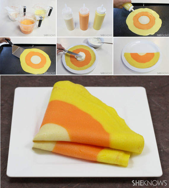 Candy Corn Crepes at SheKnows.com