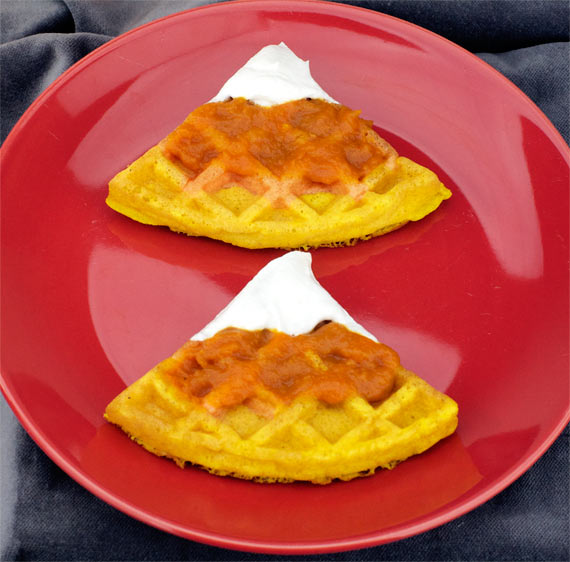 Candy Corn Waffle Toppings