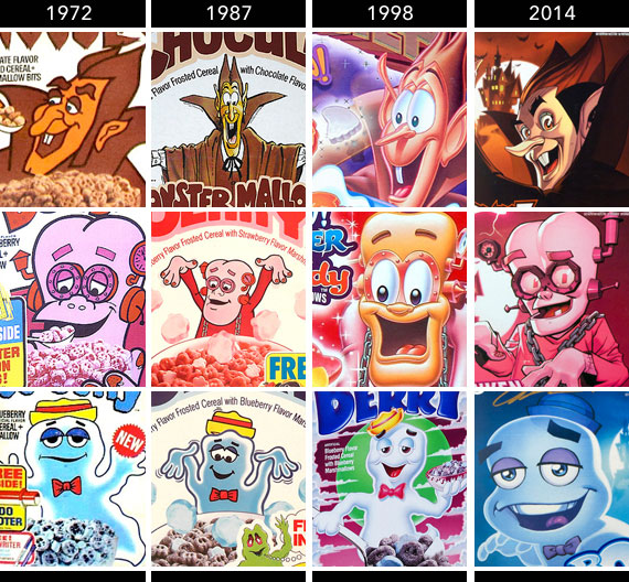 Monster Cereals Over The Years