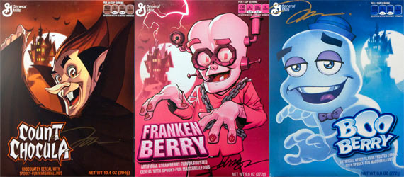 2014 Monster Cereal Boxes