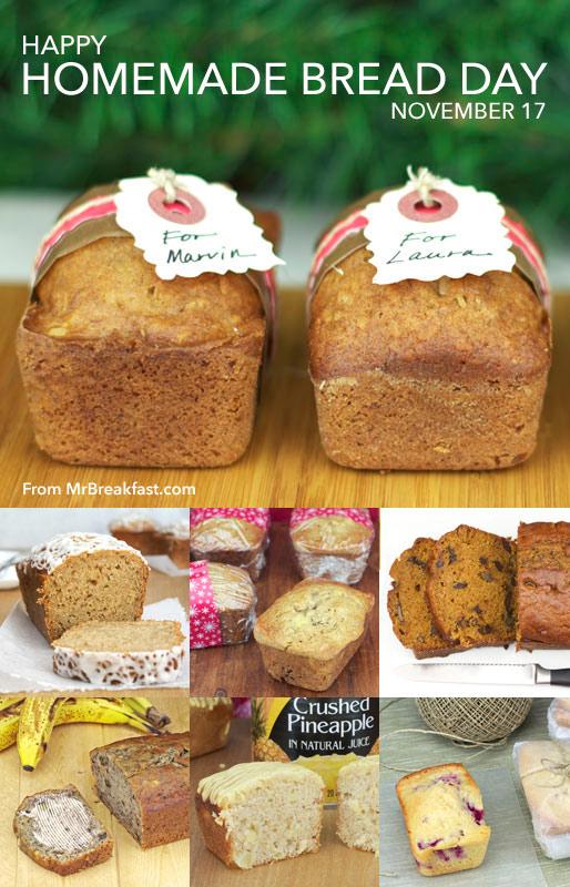 Homemade Bread Day Is November 17
