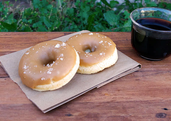 Baked Salted Caramel Donuts
