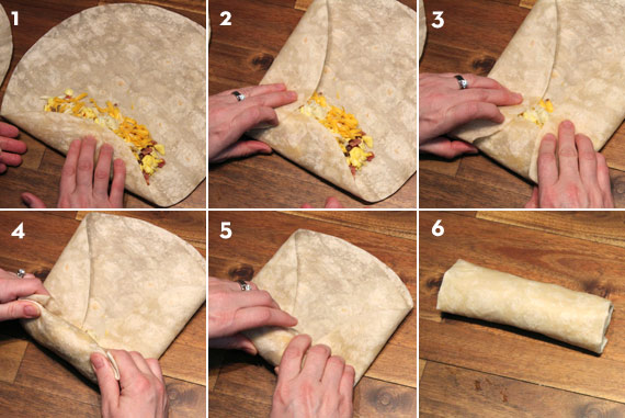 How To Fold A Breakfast Burrito