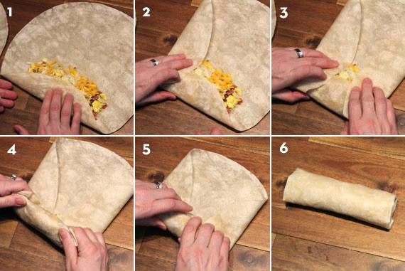 How To Fold A Breakfast Burrito
