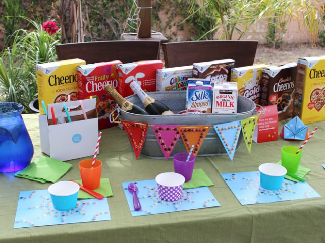 National Cereal Day Table Setup