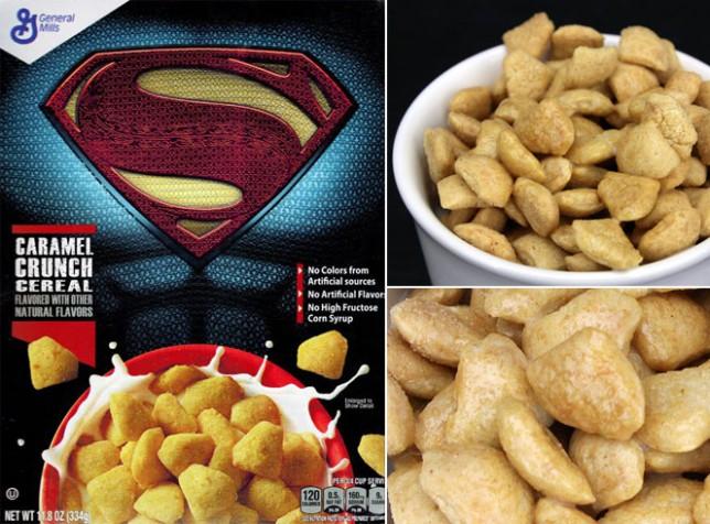 Superman Caramel Crunch Cereal